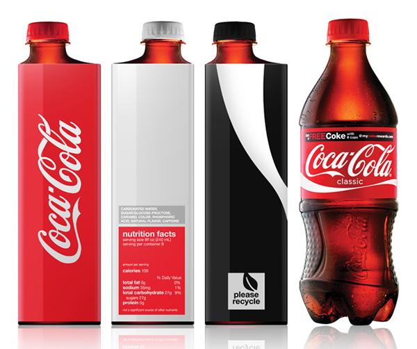 Coke Redesign bottles - new vs. old