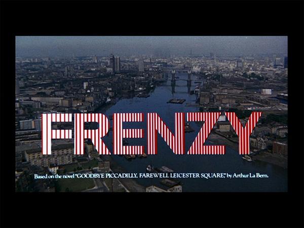 Hitchcock Movie title stills - frenzy