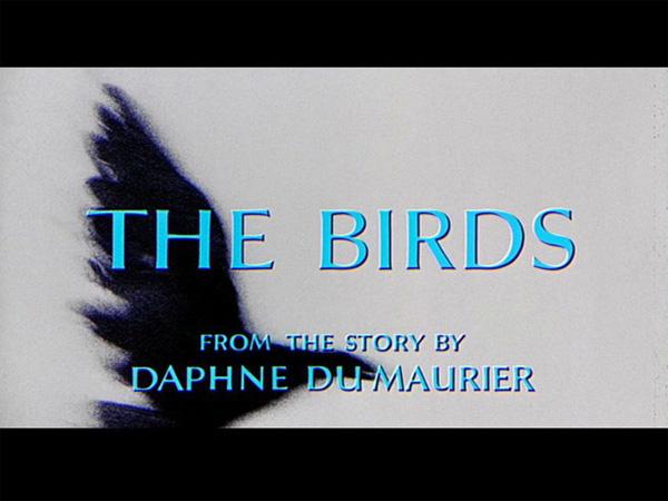 Hitchcock Movie title stills - the birds