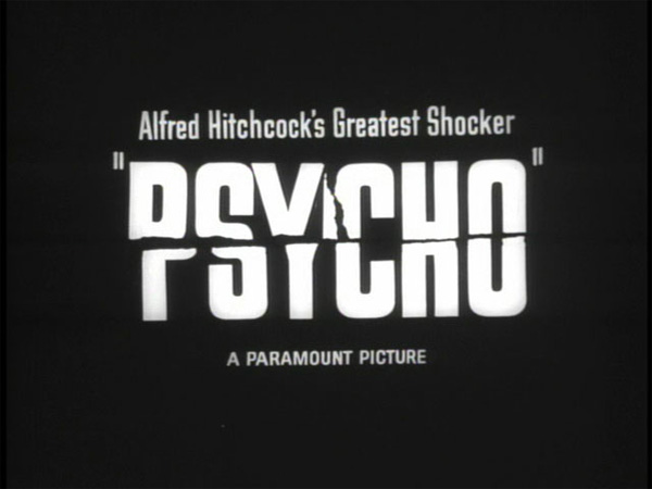 Hitchcock Movie title stills -  psycho