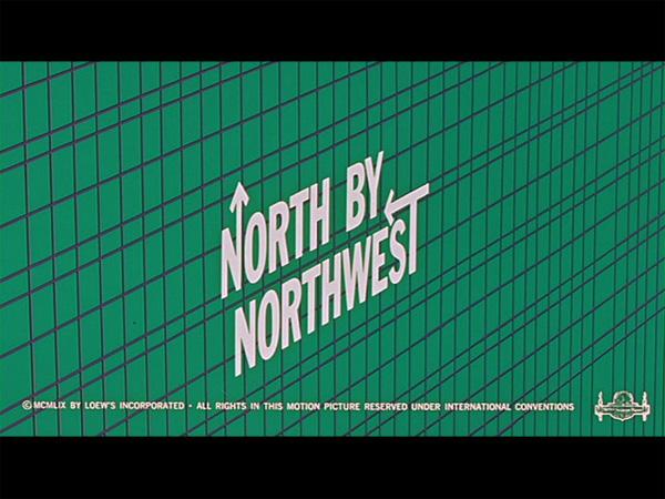 Hitchcock Movie title stills - north by northwest