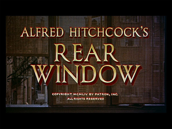 Hitchcock Movie title stills - rear window
