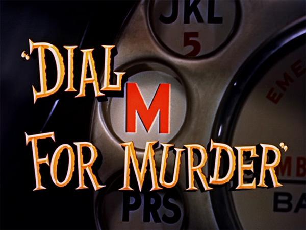 Hitchcock Movie title stills - dial M for murder