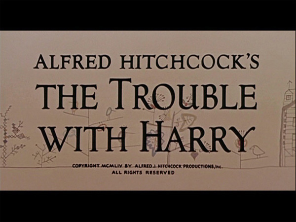 Hitchcock Movie title stills - trouble with harry