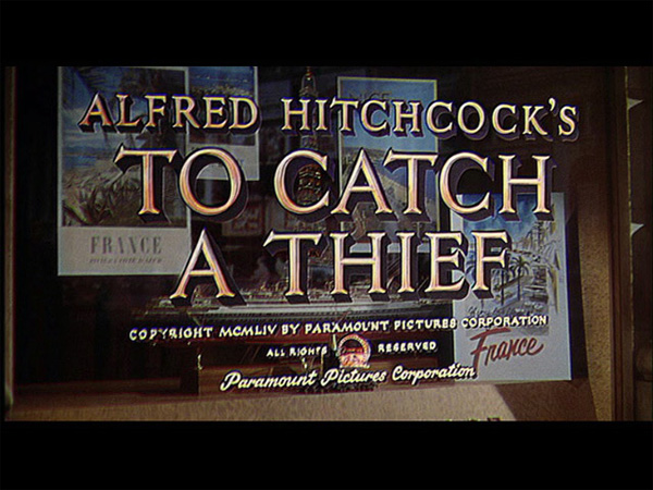 Hitchcock Movie title stills - to catch a theif