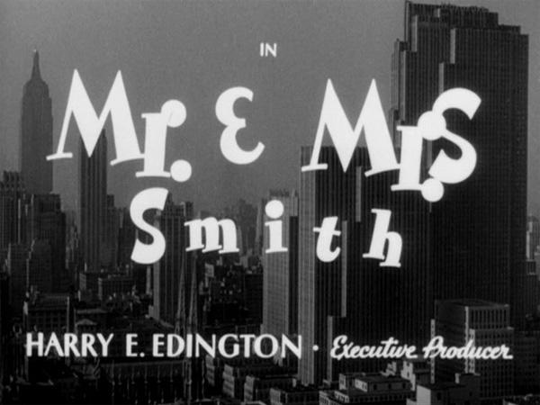 Hitchcock Movie title stills - mr. mrs. smith