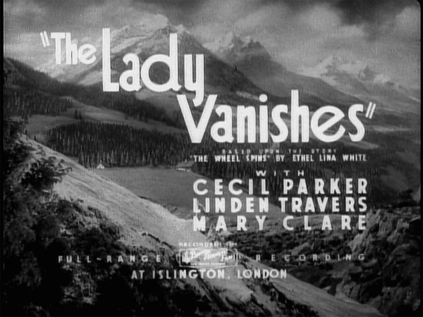 Hitchcock Movie title stills - the lady vanishes