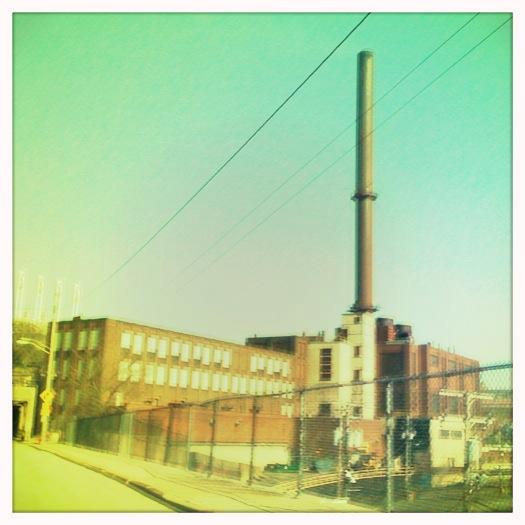 Cleveland Flats smoke stack